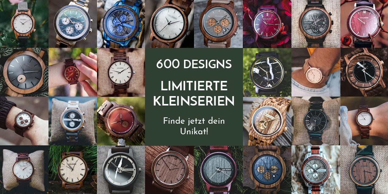 Über 600 enzigartige Holzkern Designs