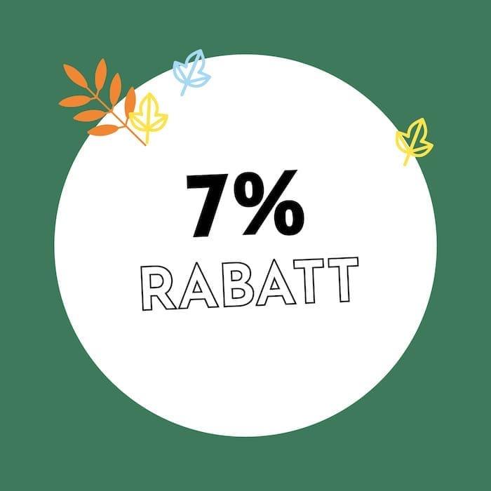 7% Rabatt