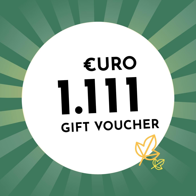 1.111€ Holzkern Gift Voucher