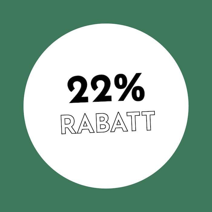 22% Rabatt