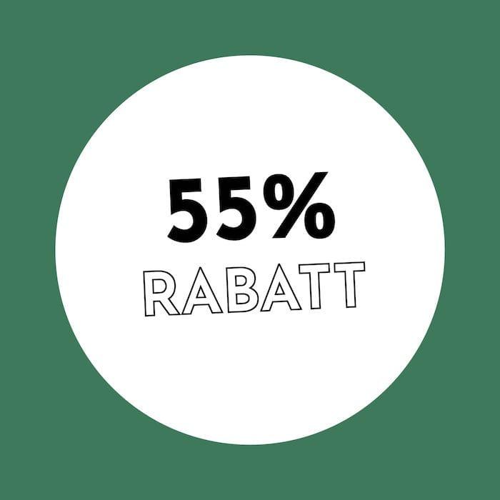 55% Rabatt