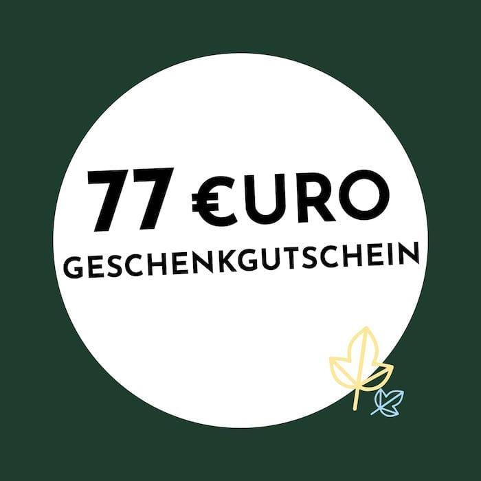 77€ Geschenkgutschein Holzkern
