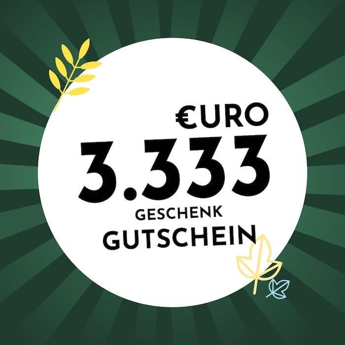 3.333€ Geschenkgutschein Holzkern