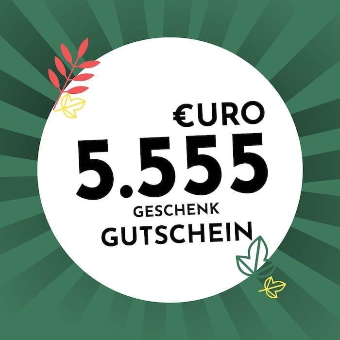 5.555€ Geschenkgutschein Holzkern