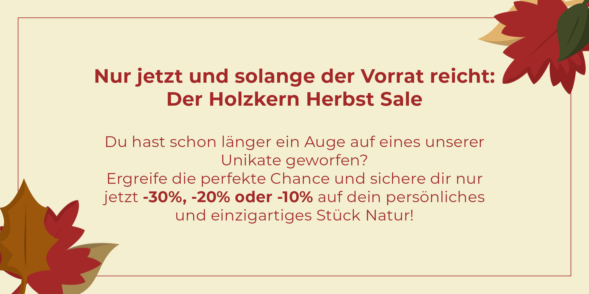 Herbst Sale