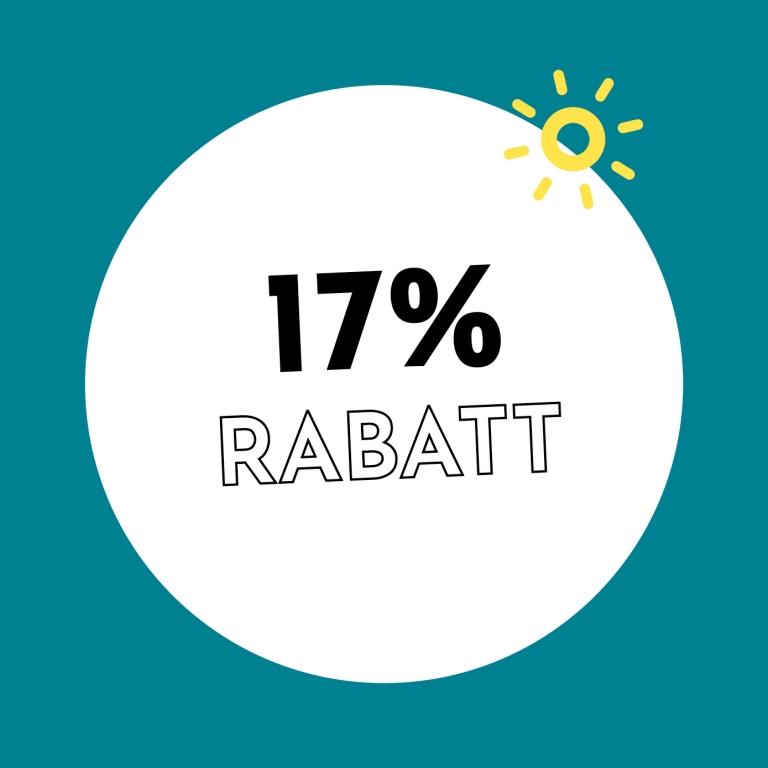 17% Rabatt bei Holzkern