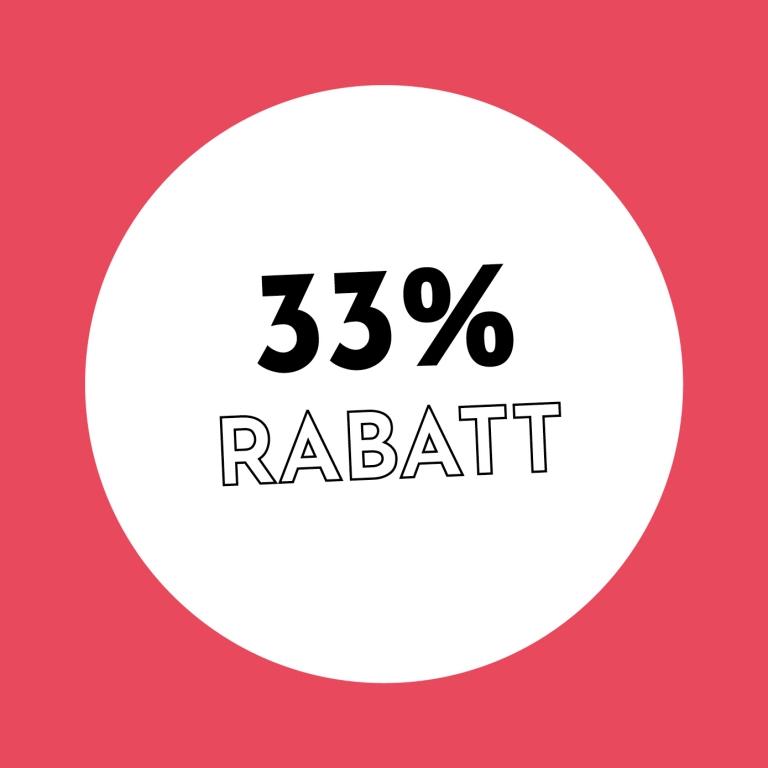 33% Rabatt bei Holzkern