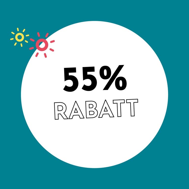 55% Rabatt bei Holzkern