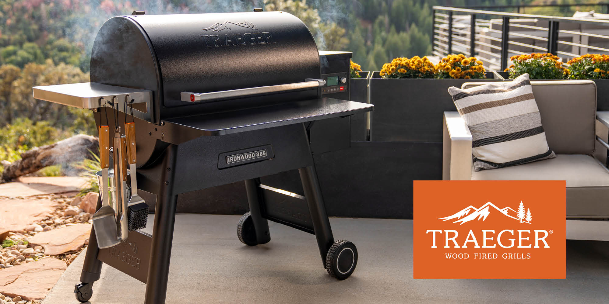 Ironwood 885 pellet grill from Traeger