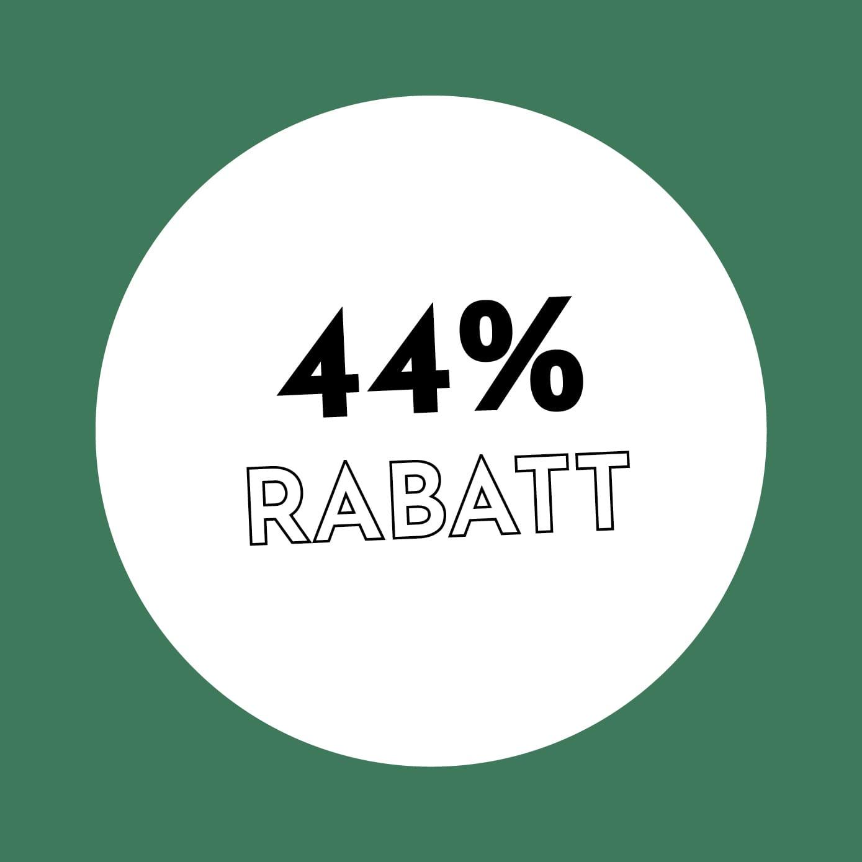 44% Rabatt