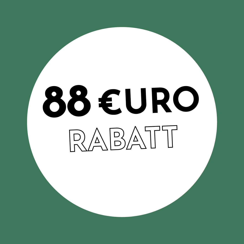 88€ Rabatt