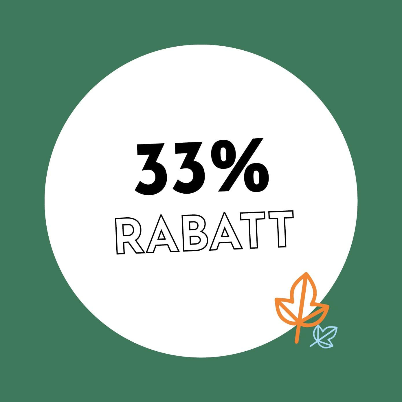 33% Rabatt