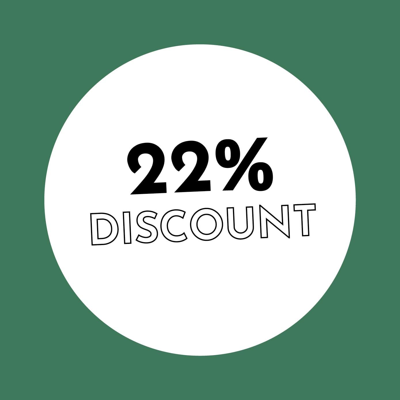 22% Discount