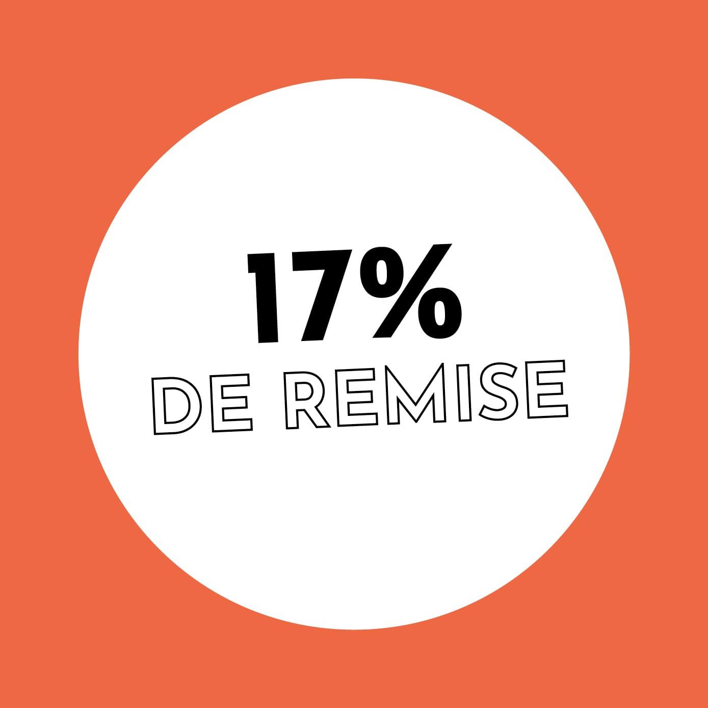 17% de réduction