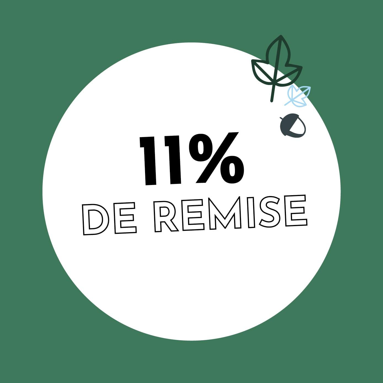 11% de réduction