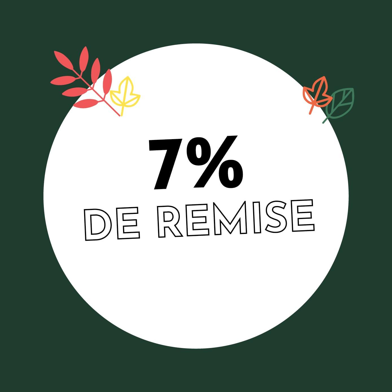 7% de réduction