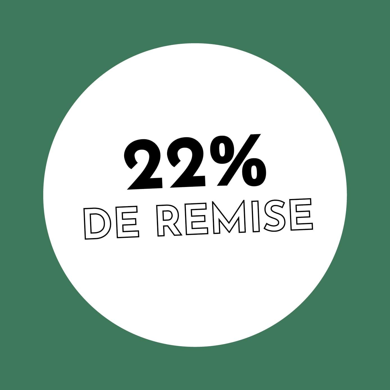 22% de réduction