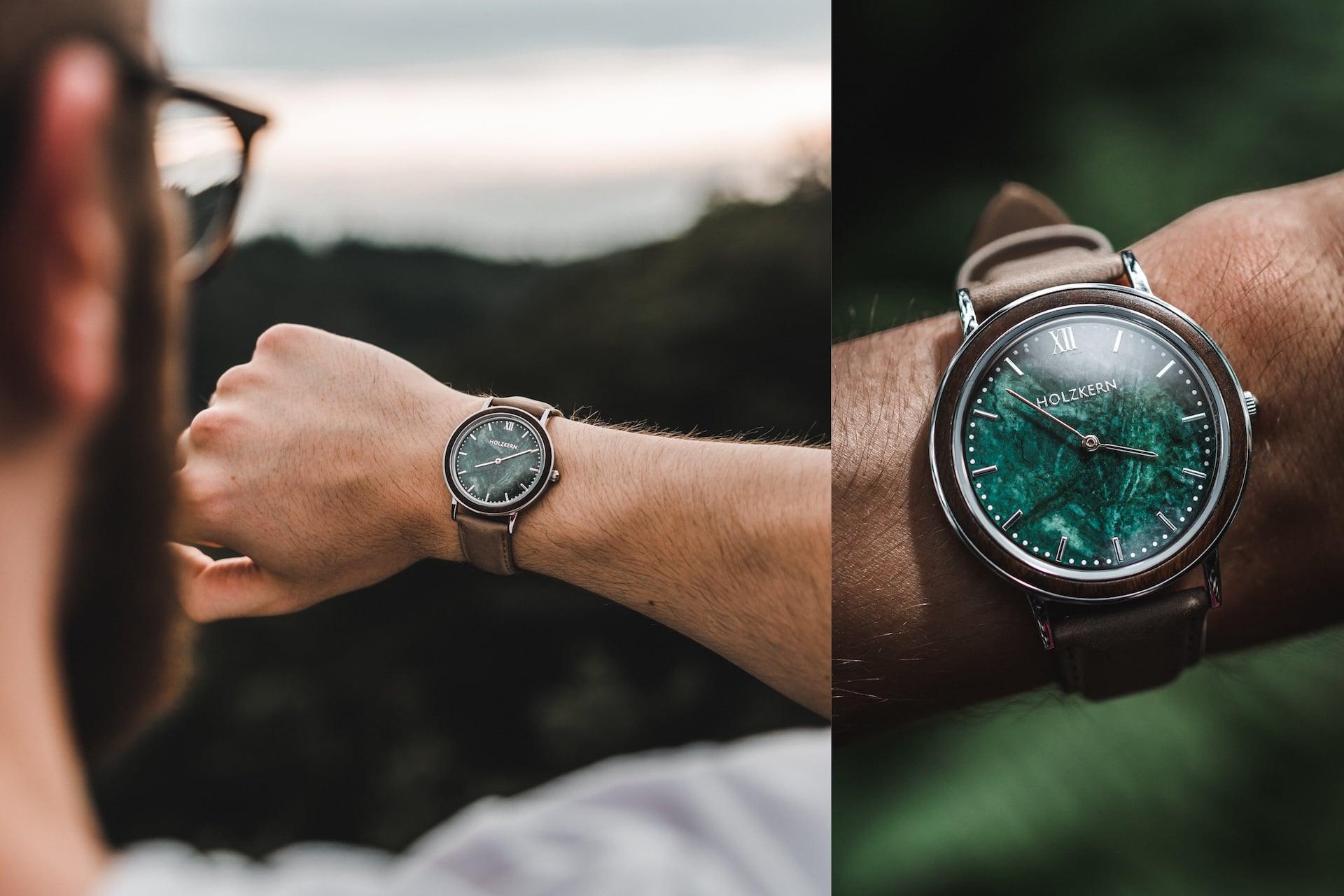 Die Uhr Stanley Park am Handgelenk