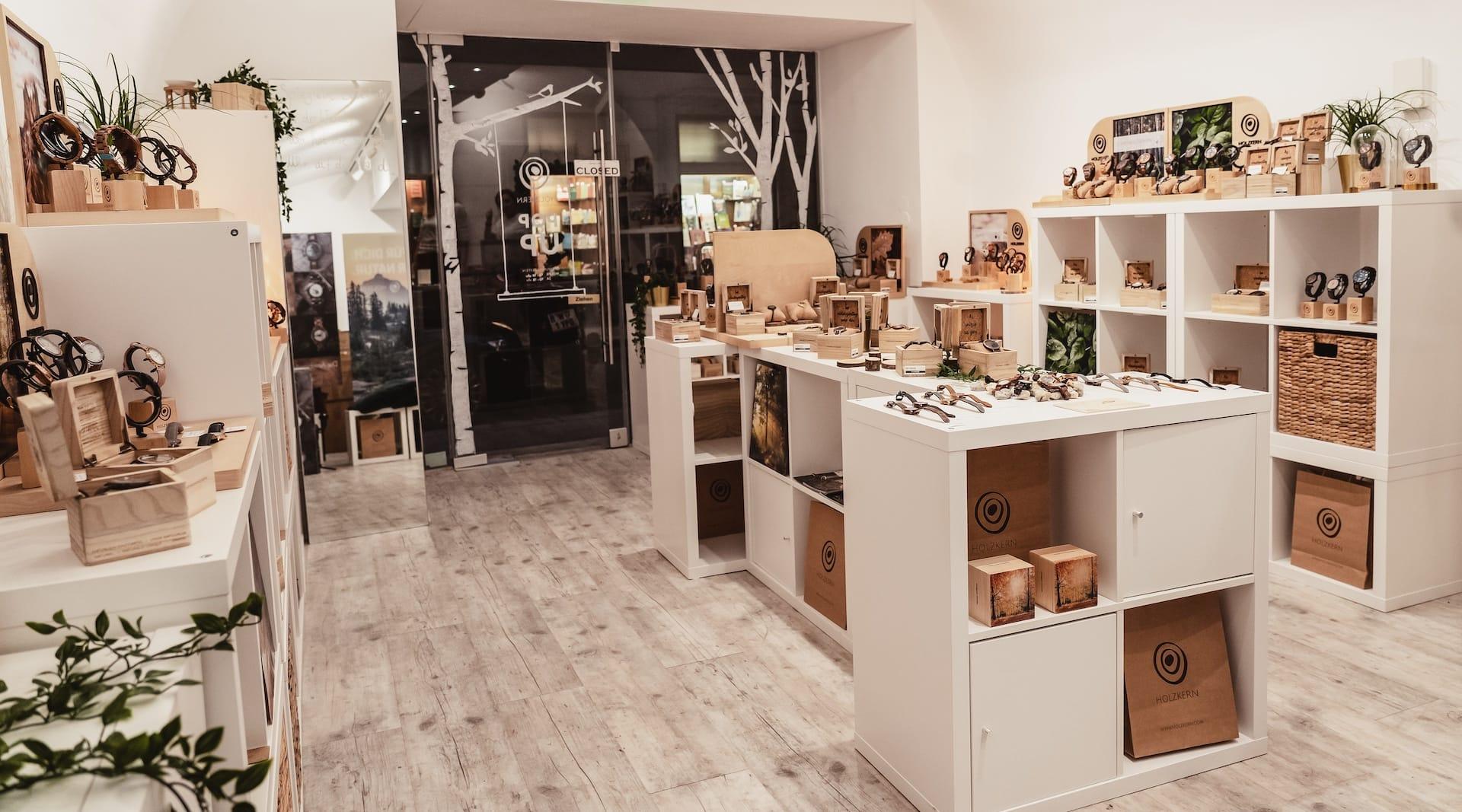 La boutique Holzkern à Vienne