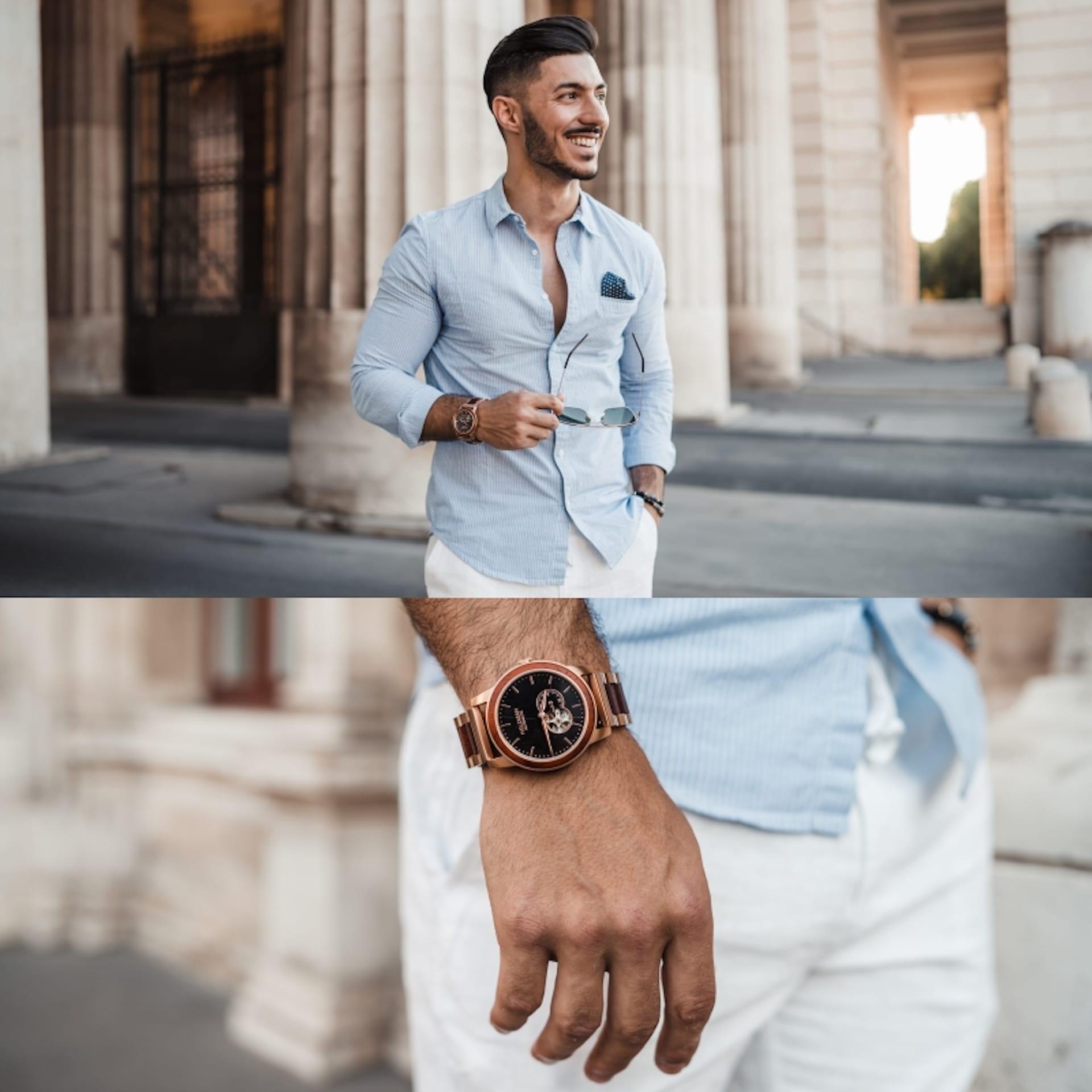 Holzkern Uhr Uhren Trend für den Sommer