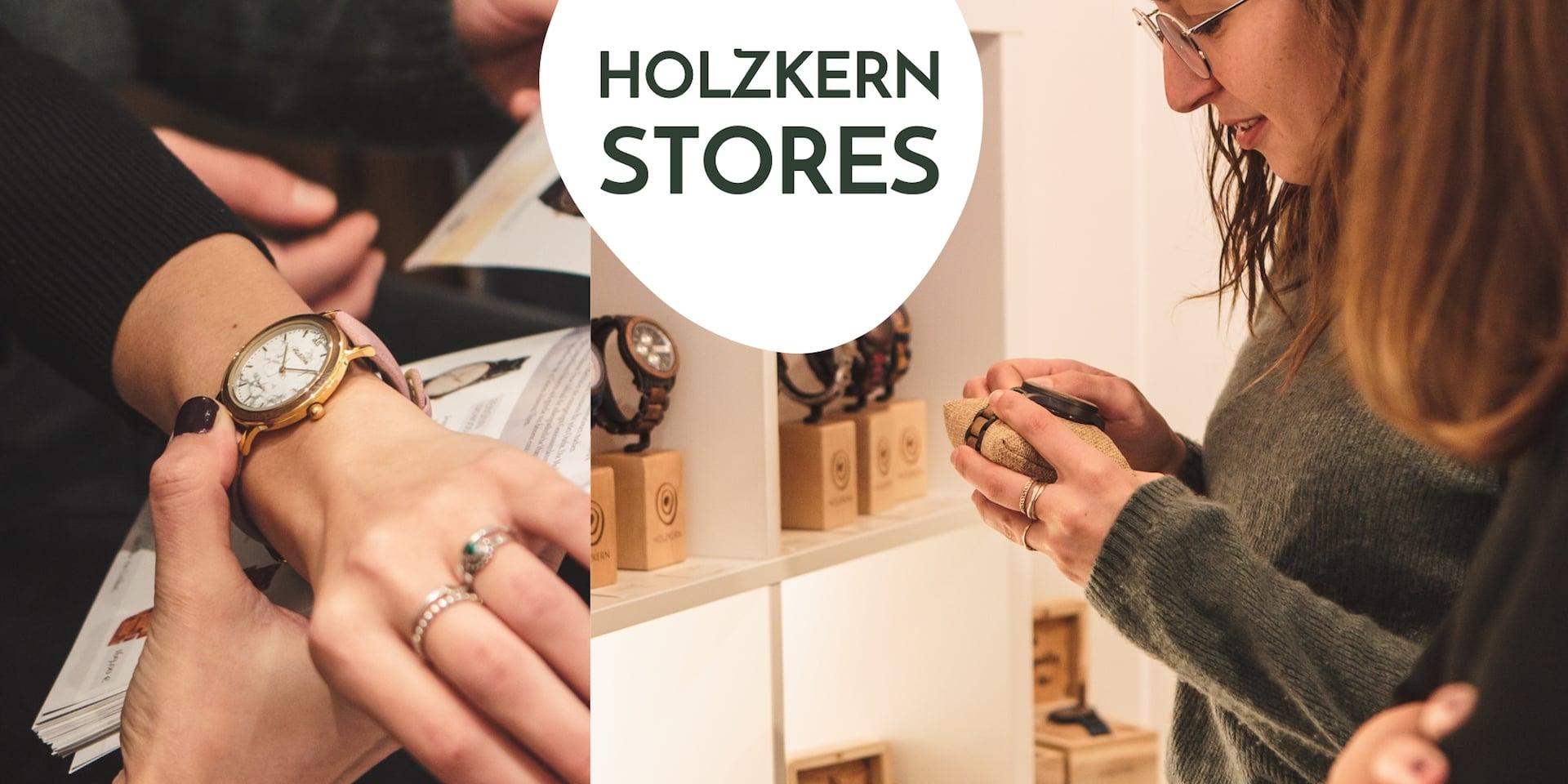 Holzkern Stores vor Ort