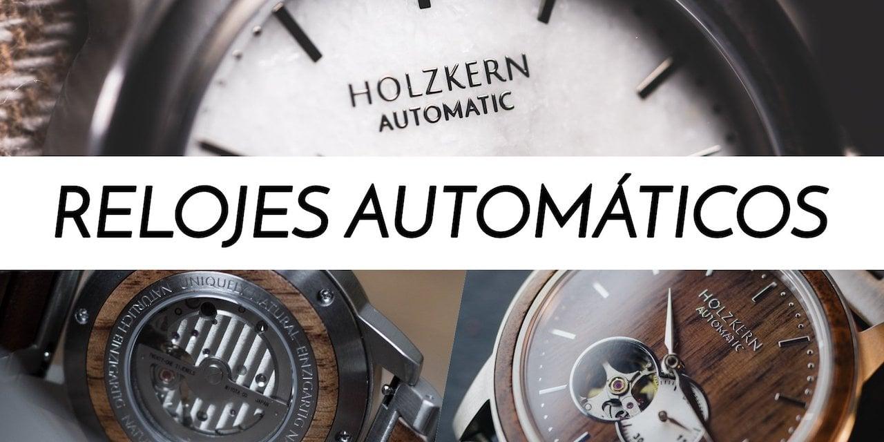 relojes automáticos de madera y piedra de holzkern